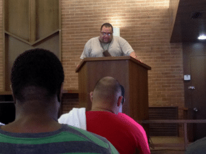 Charles teaching at our second men's weekend