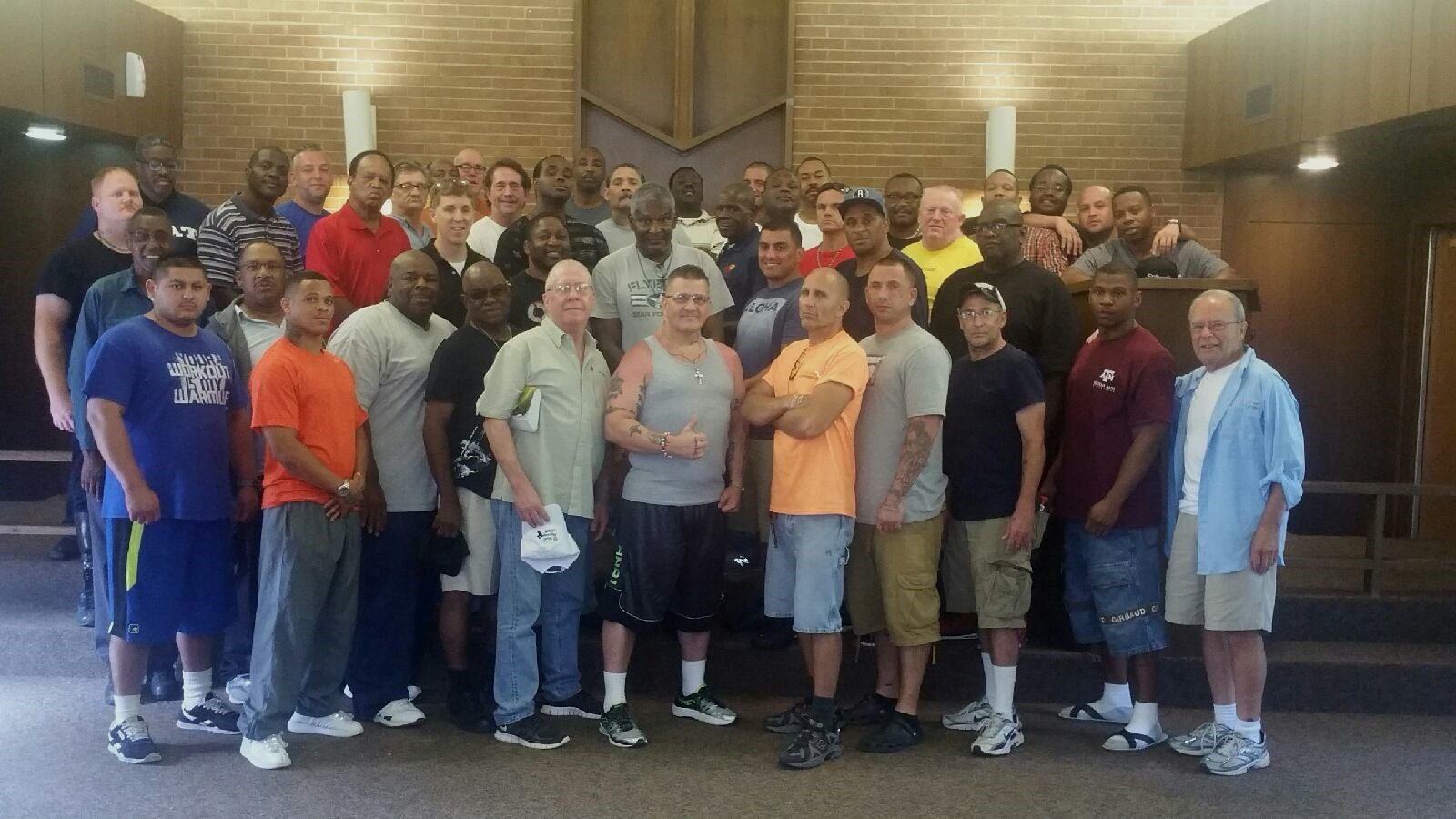 The staff and men at the end of weekend #8 at Camp Mohawk in partnership with Open Door Mission.